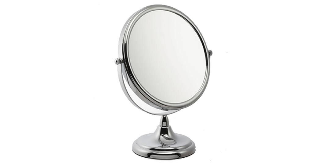 Miroir grossissant x5 sur pied double face