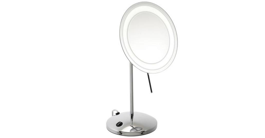 Miroir grossissant x3 sur pied LED