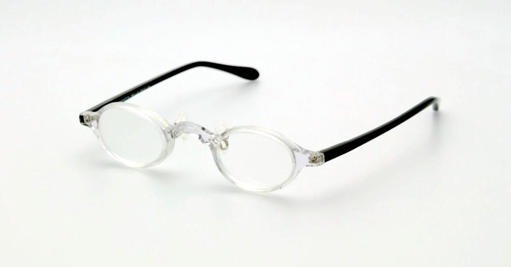 Lunettes prismatiques +6D acétate cristal / noir retrait DIRECT OPTIC NANTES