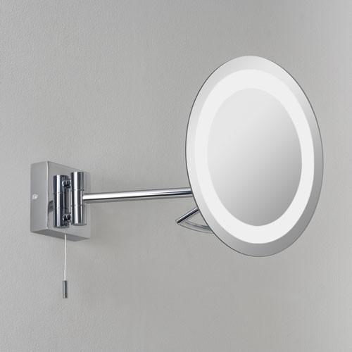 Miroir lumineux grossissant rond x3 mural 22 cm