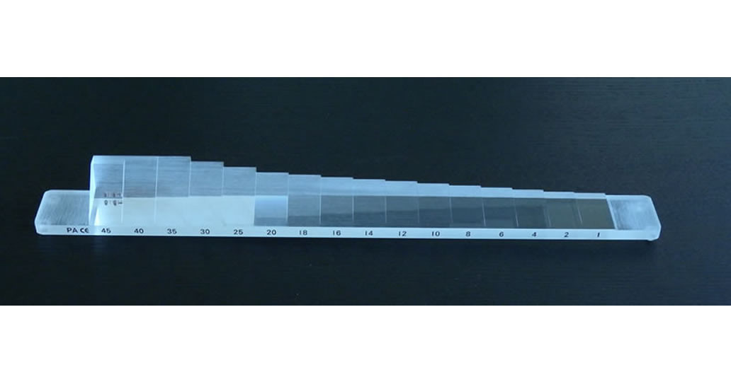 Barre de prisme de Berens horizontale