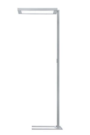 Lampadaire LED Waldmann LAVIGO DPS 288 gris argent réglable
