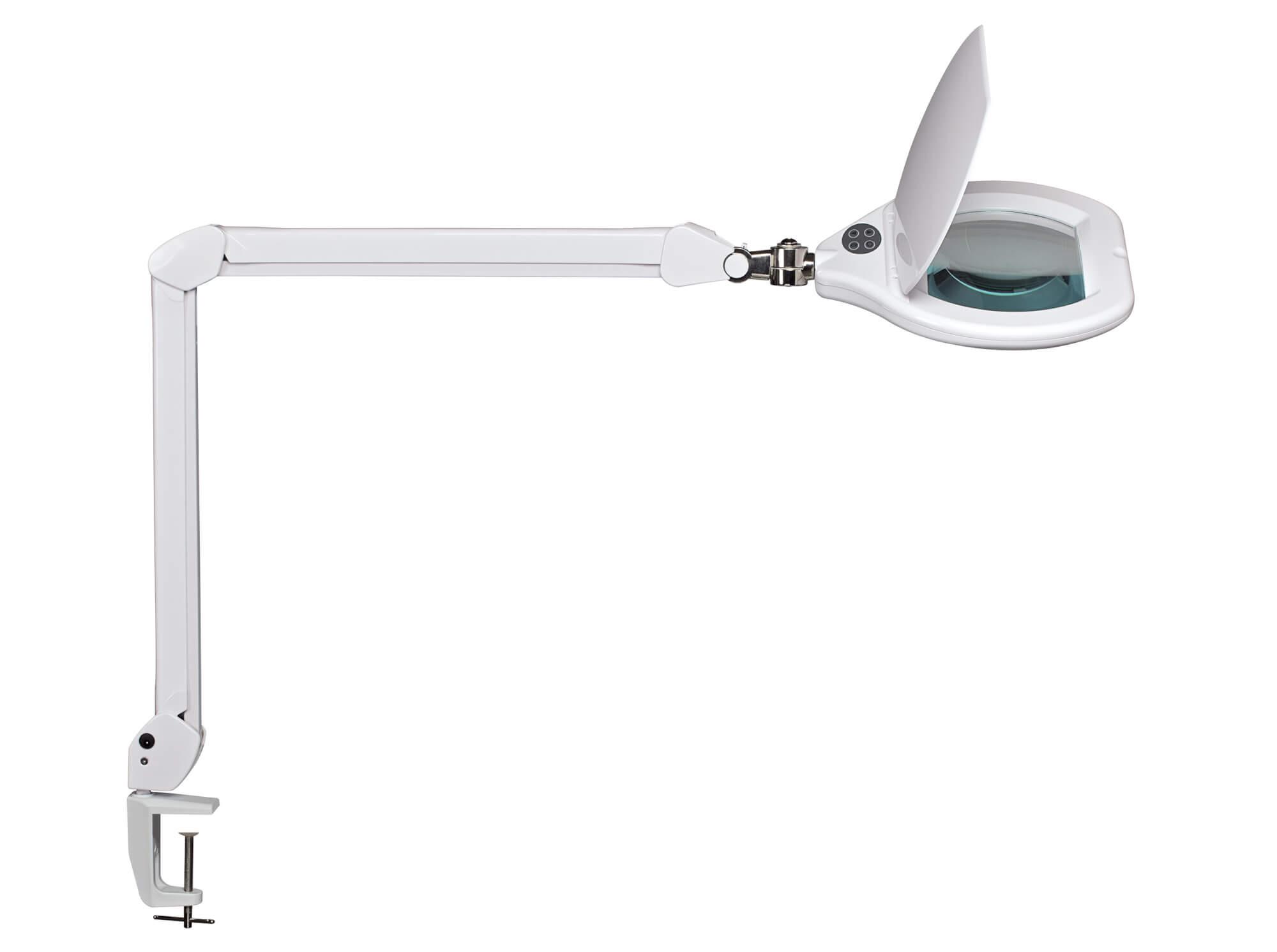Lampe loupe LED 17 cm réglable avec pince
