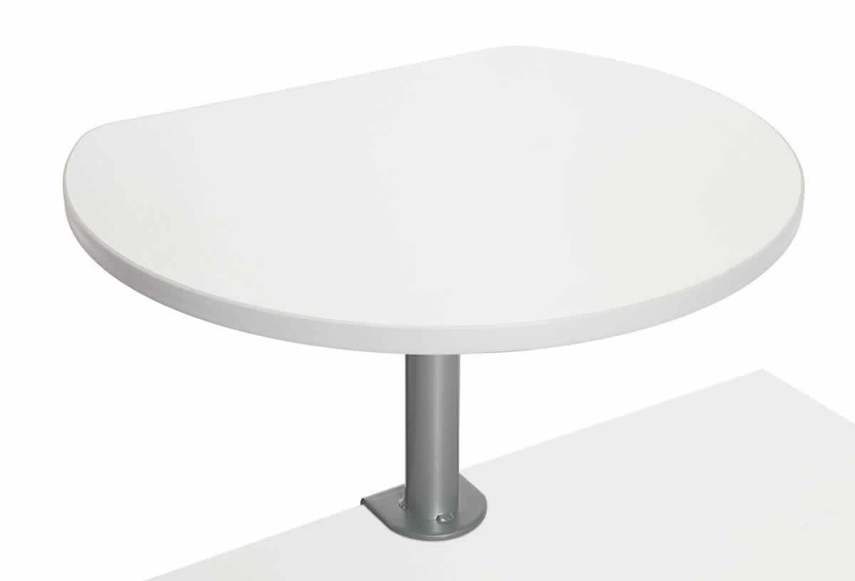 Table haute sur pince finition Blanc