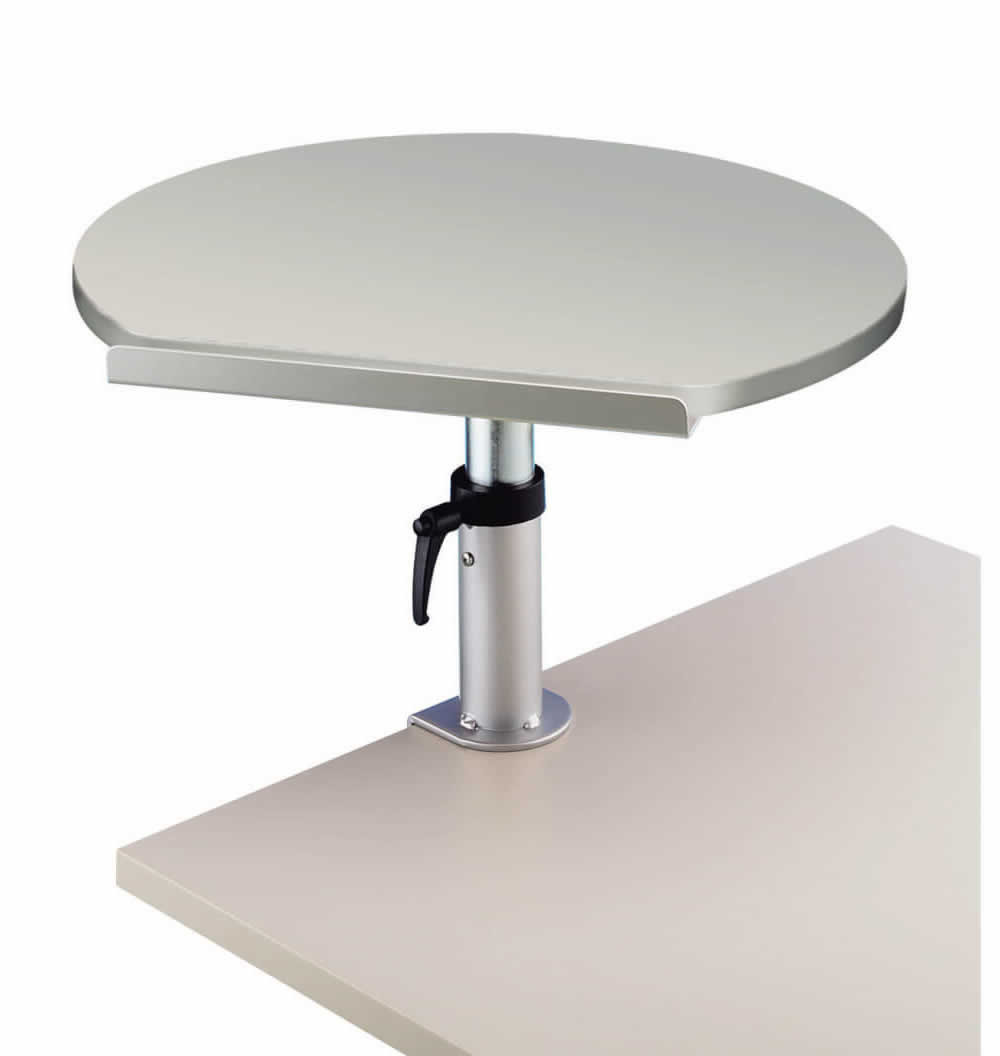 Table ergonomique Gris sur pince