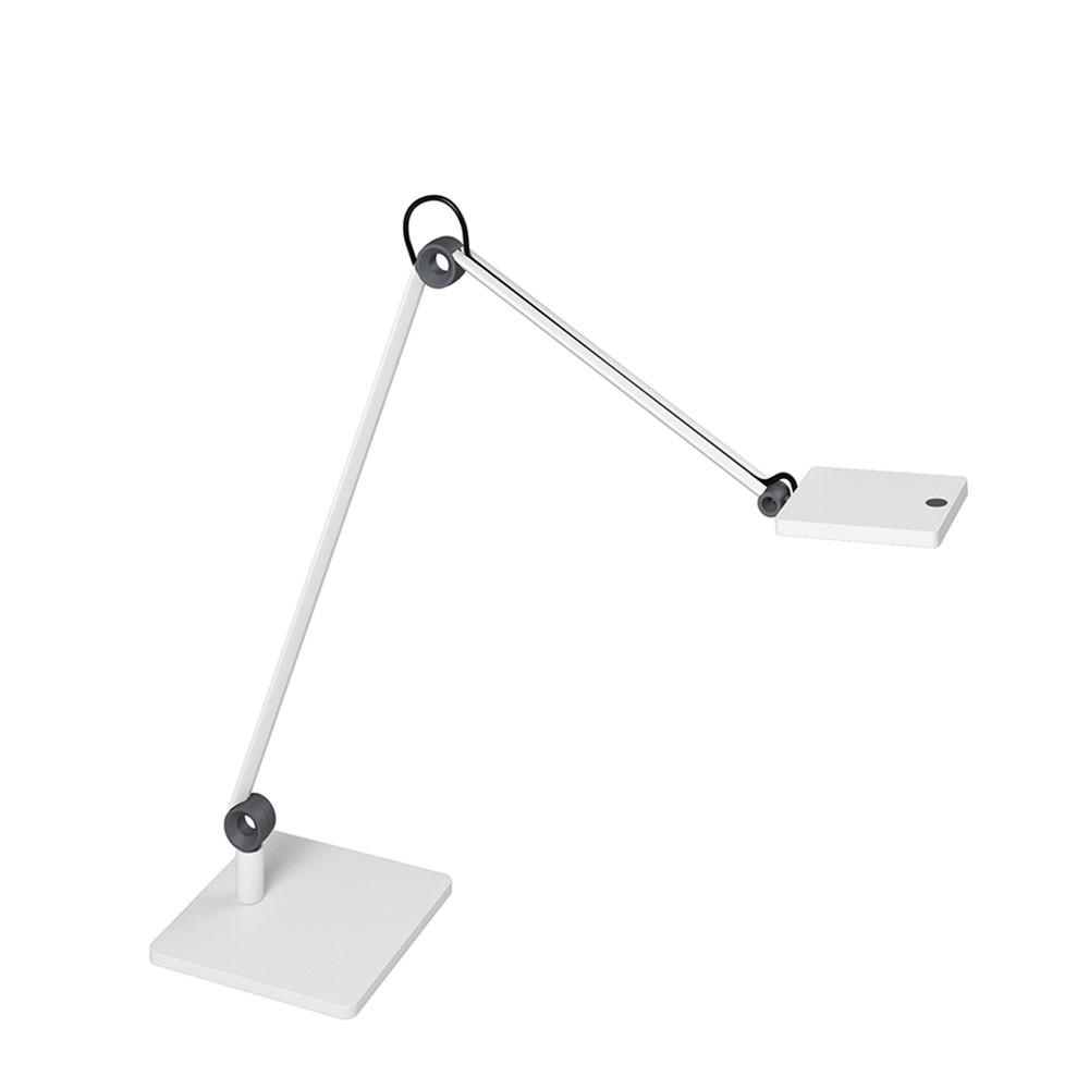 Lampe LED sur socle Waldmann PARA.MI double bras blanc rectangulaire réglable