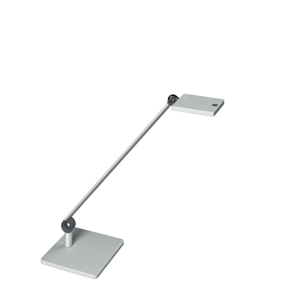 Lampe LED sur socle Waldmann PARA.MI simple bras argent rectangulaire réglable