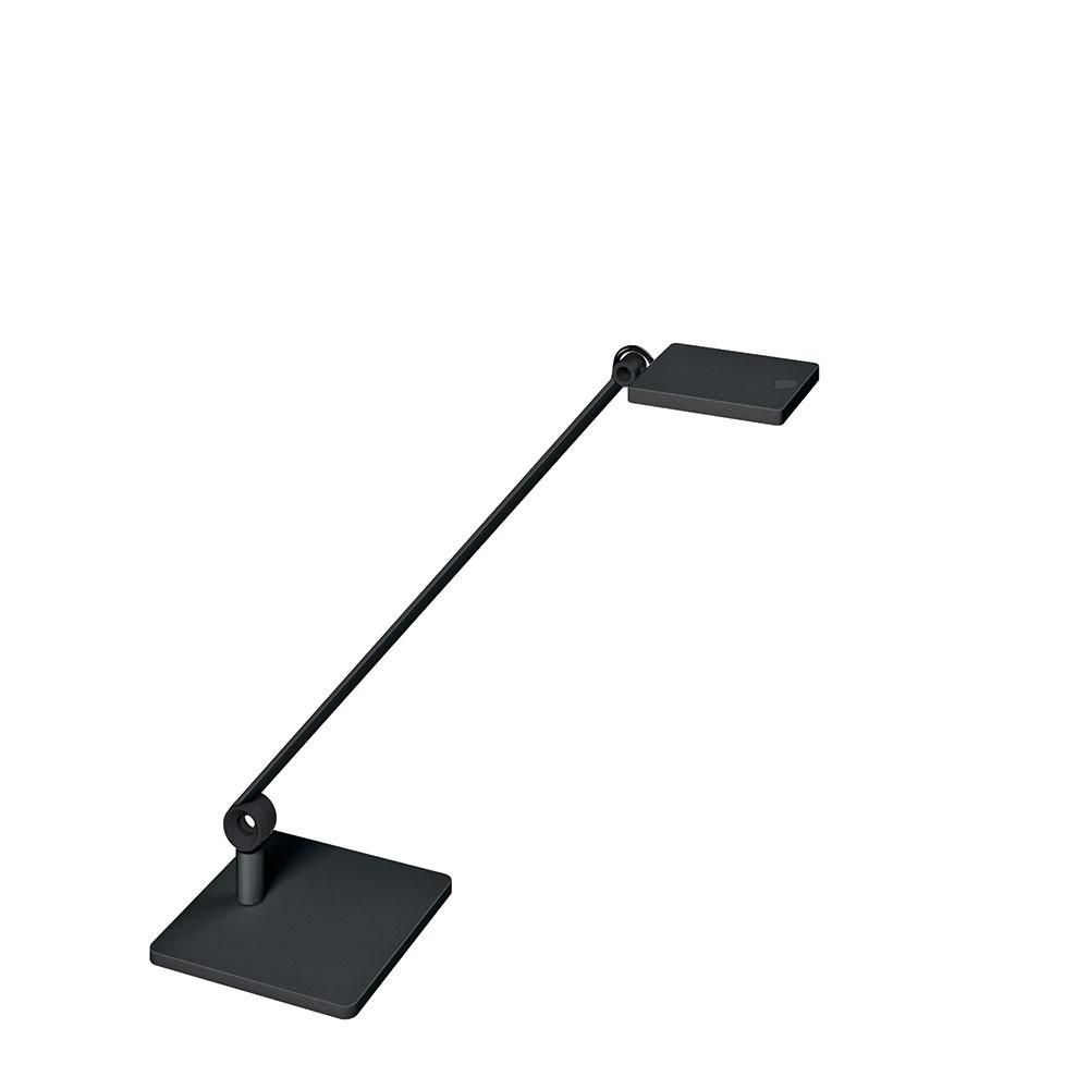 Lampe LED sur socle Waldmann PARA.MI simple bras noir rectangulaire réglable
