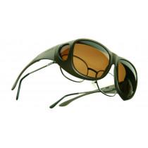 Sur lunettes polarisantes Brun MX