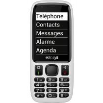 Téléphone portable blanc pour Malvoyant KAPSYS Minivision