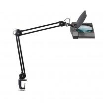 Lampe loupe LED Pro noire avec pince