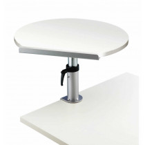 Table ergonomique Blanc sur pince