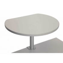 Table haute sur pince finition Gris