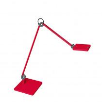 Lampe LED sur socle Waldmann PARA.MI double bras rouge rectangulaire réglable
