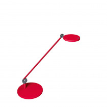 Lampe LED sur socle Waldmann PARA.MI simple bras rouge rond réglable