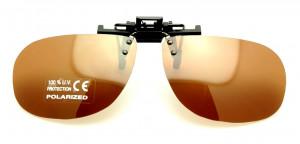Sur lunettes clip solaires polarisantes économiques Brun