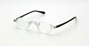Lunettes prismatiques +6D à +10D acétate cristal / noir