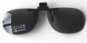 Sur lunettes clip solaires polarisantes économiques Gris