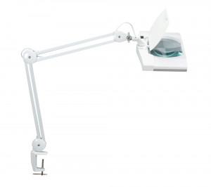 Lampe loupe LED Pro blanche avec pince