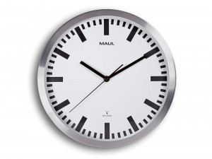 Grande horloge murale radio-pilotée 30 cm métal