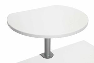 Table haute sur pince finition Blanc