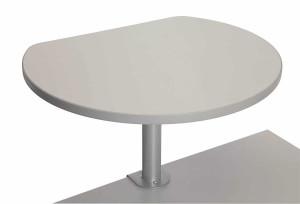 Table haute sur pince finition Gris