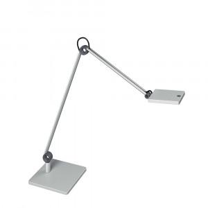 Lampe LED sur socle Waldmann PARA.MI double bras argent rectangulaire réglable